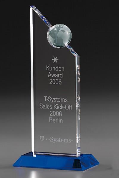 "Kristallglas-Trophäe ""Globe Excellence Award"" (Artikel 7956 A)"