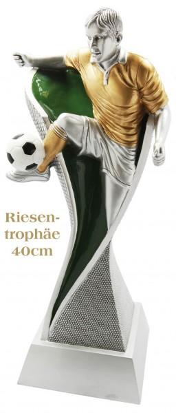 Riesentrophäe Fußballspieler farbig (Artikel 4248)
