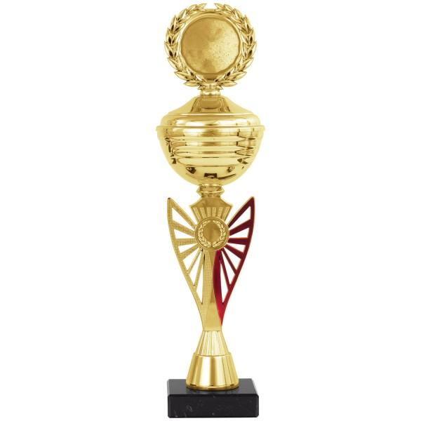 Klassischer Pokal in Gold-Blau (Artikel 8300) ohne Deckel oder (Artikel 9300) mit Deckel