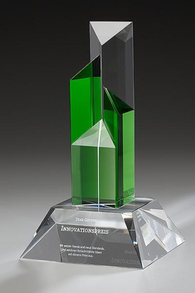"Kristallglas-Trophäe ""Emerald Winfield Award"" (Artikel 79506)"