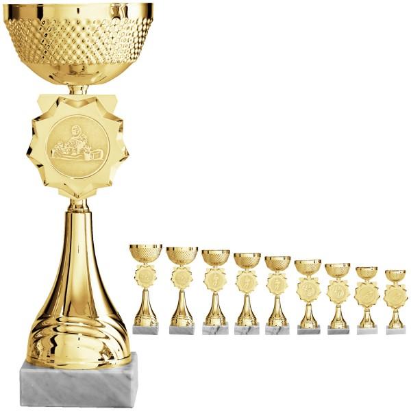 Edler Pokal in Gold mit schönes Details (Artikel 8260)