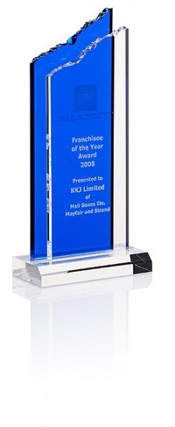 "Hochwertige Acryl-Trophäe ""Cracked Peak Award"" (Artikel 7322A)"