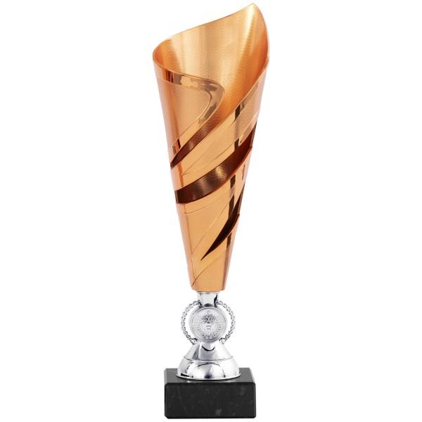 Silberne Trophäe mit blauem Innenleben (Artikel 8380)