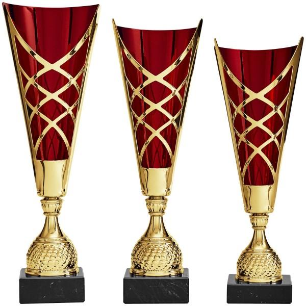Goldener Pokal mit rotem Innenteil (Artikel 8870)