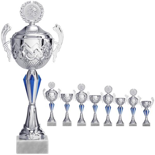 Klassischer Henkelpokal in Silber (Artikel 2050 ohne Deckel) und (Artikel 3050 mit Deckel)