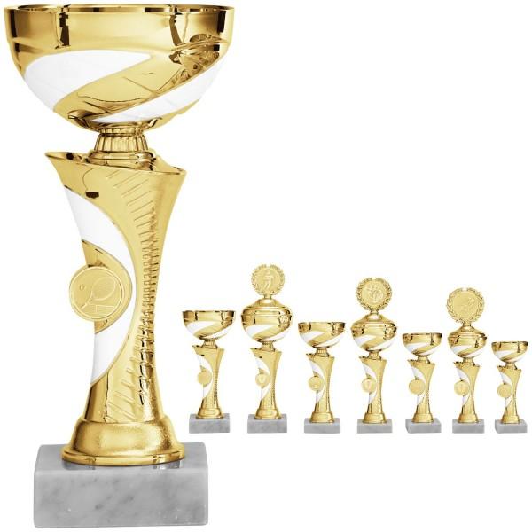 Glänzende zweifarbige Pokalserie (Artikel 8920) o.D. (Artikel 9920) m.D.