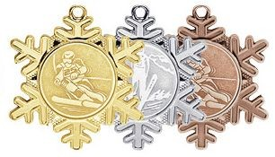Wintersportmedaille in Schneeflockenform (Artikel 4700)