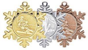 Wintersportmedaille in Schneeflockenform (Artikel 4700)