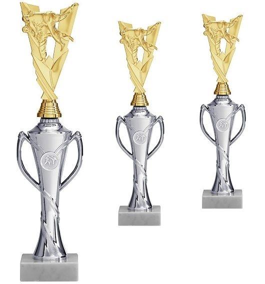 Neuer Kampfsport-Aufsteller in Silber-Gold mit Henkel (Artikel 4300)