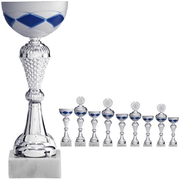 Pokal Silber mit edlem Schalendesign (Artikel 2040) ohne Deckel, (Artikel 3040) mit Deckel