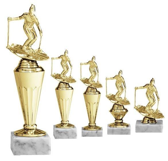 Skiaufsteller mit Figur in Gold (Artikel 4720)