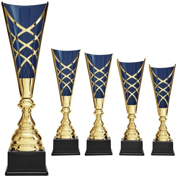 Pokal in Gold mit blauem Innenleben (Artikel 8890)