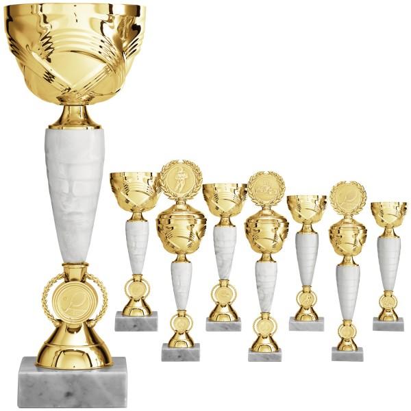 Goldene Pokalserie im schlanken Design (Artikel 8210) ohne Deckel oder (Artikel 9210) mit Deckel