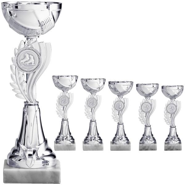 Silberne Pokalserie mit neu designten Emblemhalter mittig (Artikel 8050)