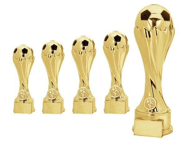 Fußball Pokalserie in Gold mit Fußball gold-schwarz (Artikel 4170)