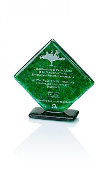 "Recycling Glas Trophäen"" Green Diamond Award"" (Artikel 79600)"