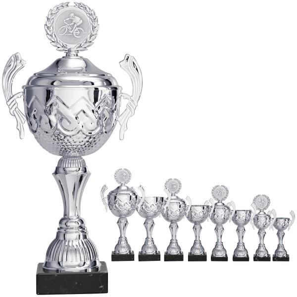 Silberner klassischer Pokal mit Henkel (Artikel 8590)