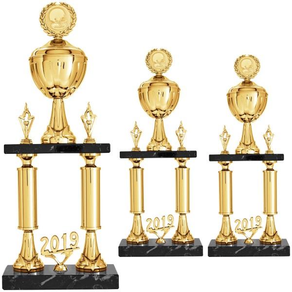 Edler goldener Säulenpokal (Artikel 9196)