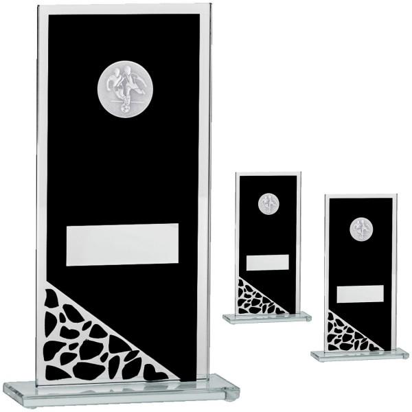 Edle schwarze Glastrophäe mit Spiegel (Artikel 210)