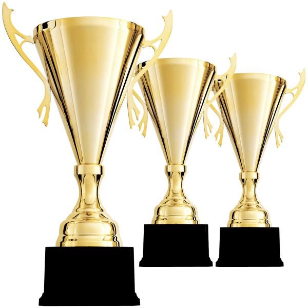 Edler Siegerpokal in Gold mit Henkel (Artikel 9087)