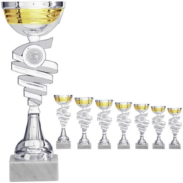 Silberner Pokal mit Schale in Silber-Gold (Artikel 8940)