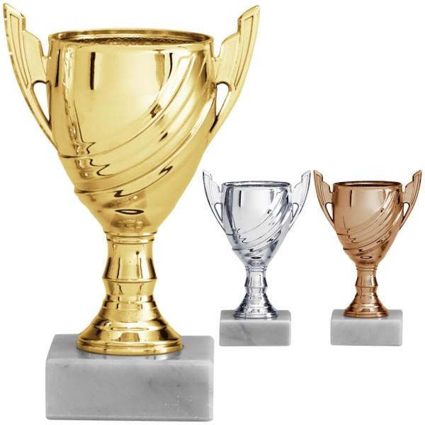 Mini-Pokal in Gold, Silber und Bronze (Artikel 195 194 193)