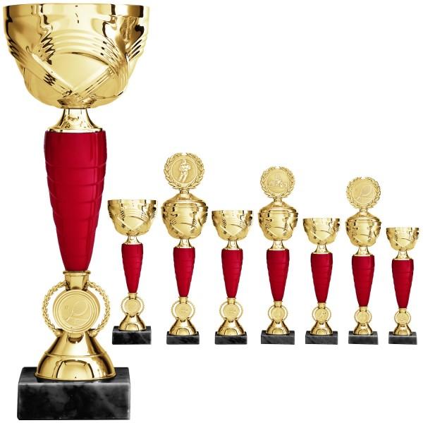 Goldene Pokalserie im schlanken Design (Artikel 2020) ohne Deckel oder (Artikel 3020) mit Deckel-Cop