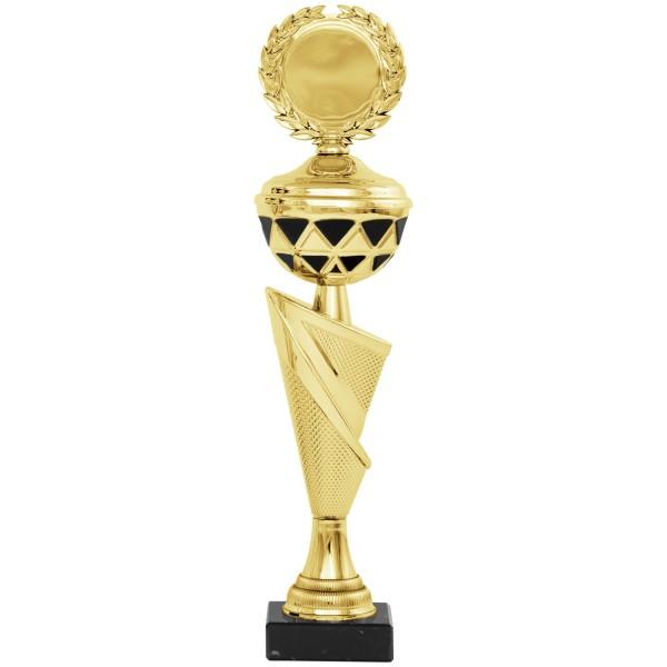 Silberner Pokal im edlen Design mit goldenen Elementen (Artikel 8270) ohne Deckel, (Artikel 9270) mi