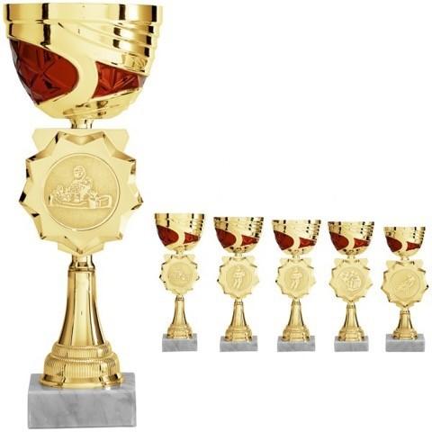 Moderner gold-roter Pokal (Artikel. 2010)