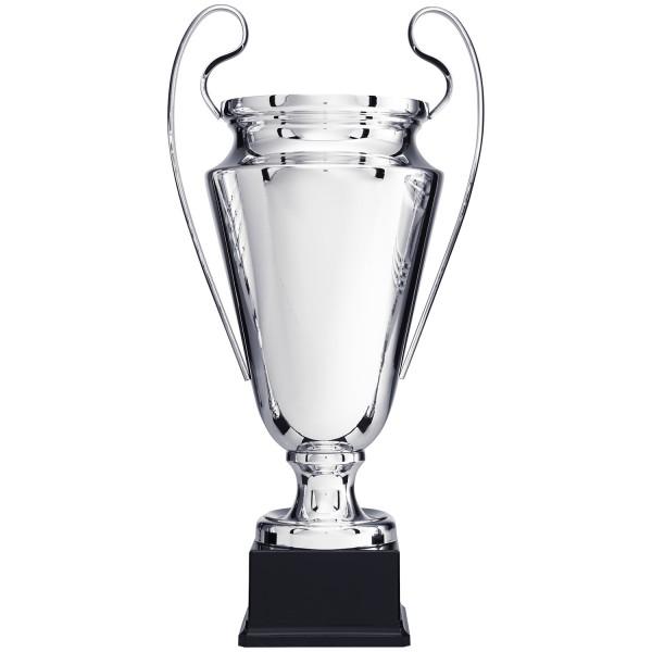 Silberfarbiger Riesenpokal in Silber aus Metall mit Henkeln (Artikel 8100)