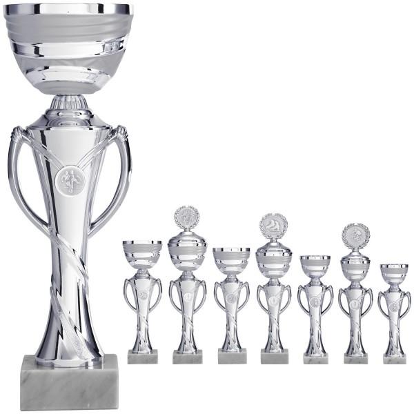 Silberner Pokal mit Henkel (Artikel 8360 o.D.) und (Artikel 9360 m.D.)
