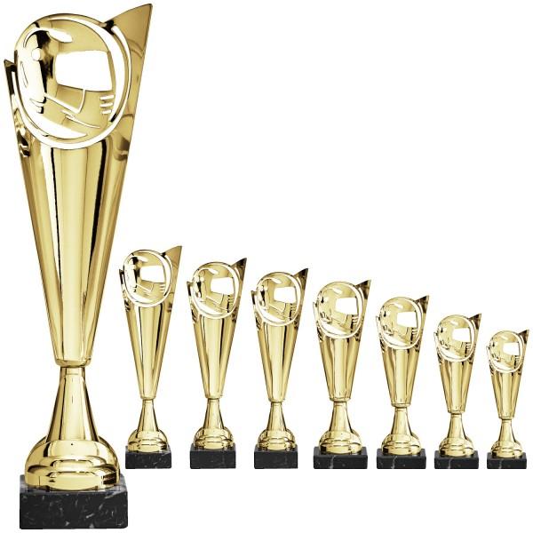 Neuheit: Pokalalternative in Gold mit Motiv als Negativ (Artikel 8440)