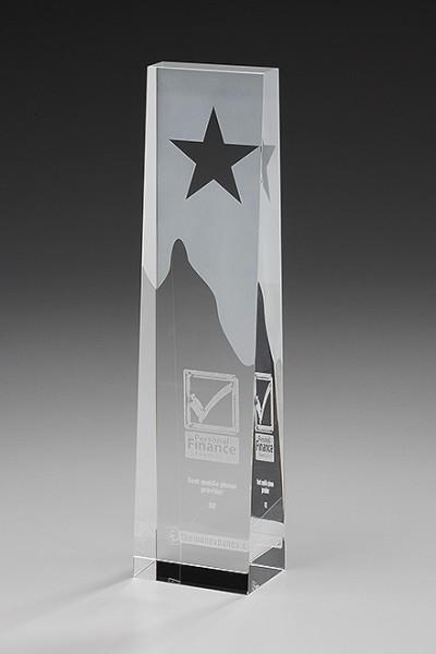 """Kristallglas-Trophäe """"Star Obelisk"""" (Artikel 7907)"""