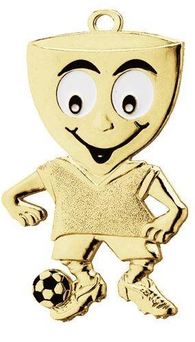 Fußball-Medaille Figur in gold VPE 50 (Artikel 4858/4158)