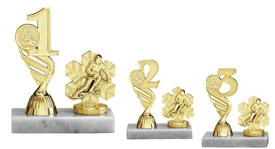 Goldene Figur mit Plazierung auf breitem Marmorsockel (Artikel 4731)