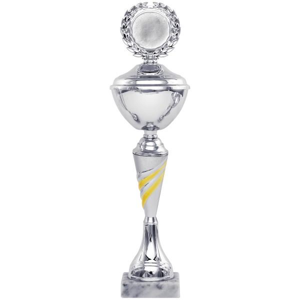 Neue silberne Pokalserie mit Henkel (Artikel 9310) mit Deckel oder (Artikel 8310) ohne Deckel