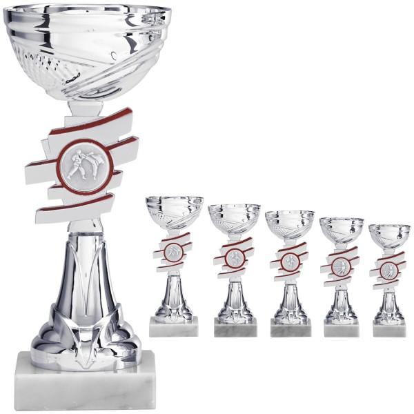 Silberner Pokal mit Rot (Artikel 8160)