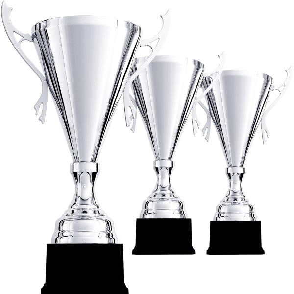 Edler Siegerpokal in Silber mit Henkeln (Artikel 9077)