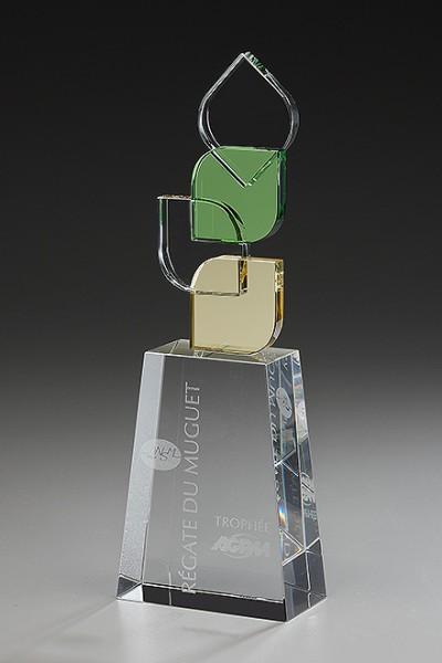 "Hochwertige Kristallglas-Trophäe ""Leaves Award"" (Artikel 79504)"