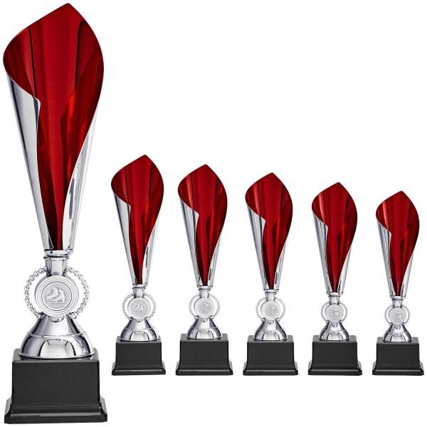 Pokalalternative in Rot und Silber (Artikel 8880)