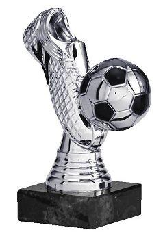 Edler Fußballaufsteller 3D Schuh und Ball in Silber VPE 25 (Artikel 4806)
