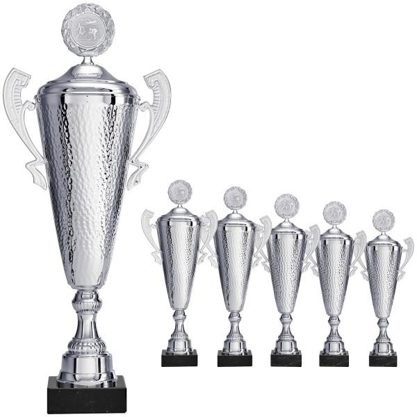 Edler Siegerpokal in Silber mit Henkeln (Artikel 8690) ohne Deckel (Artikel 9690) mit Deckel