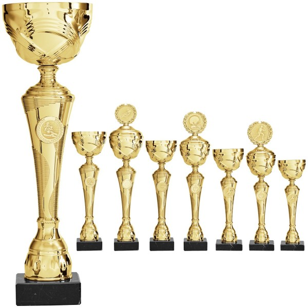 Schlanker goldener Pokal (Artikel 8140 o.D.) und (Artikel 9140 m.D.)
