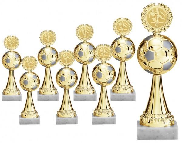 Fußball Pokalserie in Gold mit Fußball (Artikel 4150)