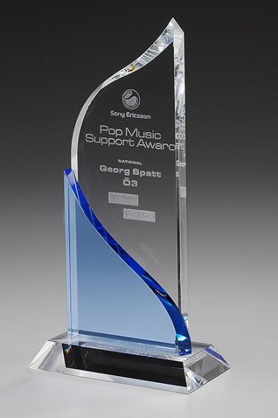 """Kristallglas-Trophäe """"Slide Award"""" (Artikel 7947 A)"""
